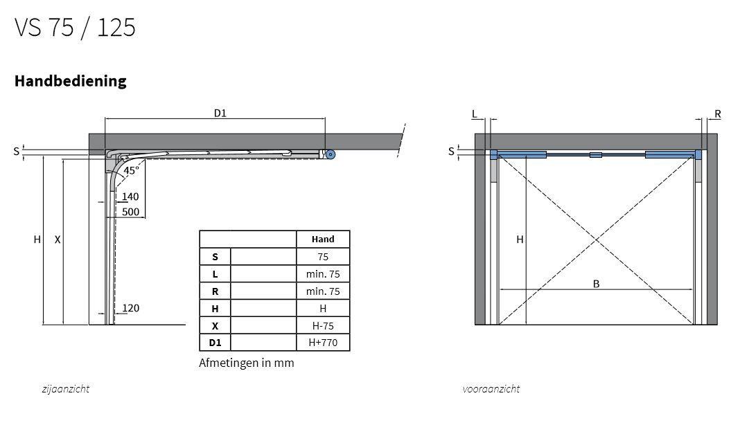 Sectionaal Garagedeur Vb Met Standaard Verenpakket