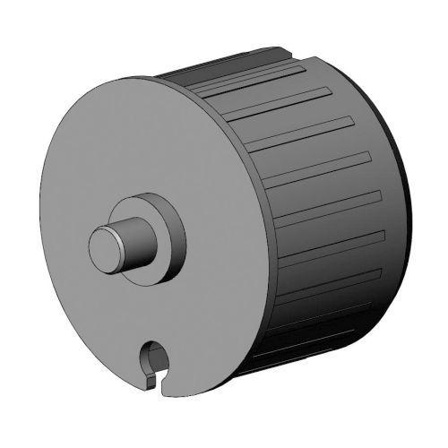 Kunststof lagerprop 78 mm ronde as