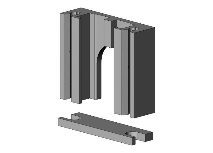 Lagerblok Aluminium